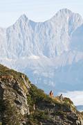 Austria, Steiermark, Reiteralm, Couple hiking - stock photo