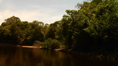 POV shot going down the Amazon River in Brazil. Stock Footage