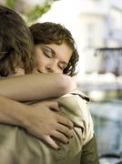 young couple, embracing - stock photo