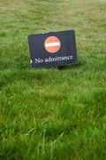 Great Britain, Sign, No admittance - stock photo