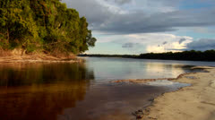 Sunset over the beautiful Amazon River basin, Brazil. Stock Footage