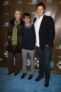jane lynch, kevin mchale and cory monteith.fox winter 2010 all-star party.hel - stock photo