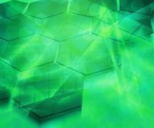abstract future science green background texture - stock illustration