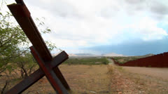 The U.S. Mexico border region becomes a focal point for immigration issues. - stock footage