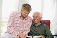 Stock Photo of Men reading