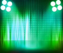 Green spotlight stage background Stock Illustration