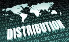 distribution - stock illustration