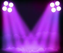 Violet spotlight background Stock Illustration
