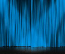 Blue curtain stage background Stock Illustration