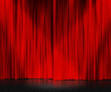 Stock Illustration of red curtain stage background