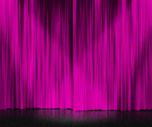 Stock Illustration of violet curtain stage background