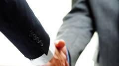 Handshake - two businessmen Stock Footage
