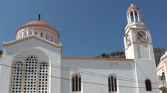 Greek church building tilt - stock footage