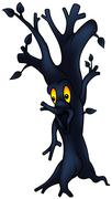 Dark Tree - stock illustration