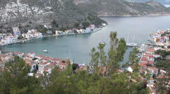 Top view on Kastellorizo town Stock Footage