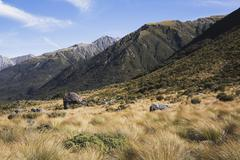 New Zealand, South Island, Canterbury, View of arthur's pass national park Stock Photos