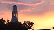 Stock Video Footage of Rockport MA, summer sunset, church steeple