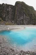 Stock Photo of New Zealand, South Island, View of glacial lake at Fox Glacier Valley