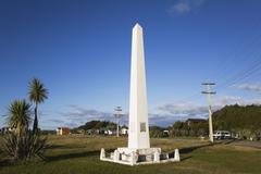 New Zealand, South Island, West Coast, View of Abel Tasman Monument - stock photo