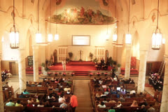 Church Service NTSC Stock Footage