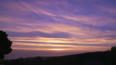 A beautiful multi colored sunset along the California coast. Stock Footage