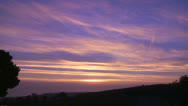 Stock Video Footage of A beautiful multi colored sunset along the California coast.