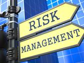 Stock Illustration of Business Concept. Risk Management Roadsign.