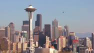 Stock Video Footage of Beautiful establishing shot of Seattle Washington on a sunny day with a