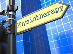 Physiotherapy Roadsign. Medical Concept. Piirros
