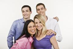 Stock Photo of Group of people, smiling, portrait