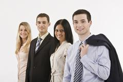 Stock Photo of Business people, smiling, portrait