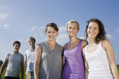 Germany, Bavaria, Group of young people - stock photo
