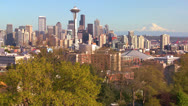 Stock Video Footage of Beautiful establishing shot of Seattle Washington on a sunny day.
