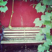 Stock Photo of still life with a bench