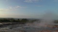 Erupting geyser strokkur in iceland with sound Stock Footage