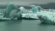 Blue icebergs at jokulsarlon iceland Stock Footage