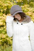 Stock Photo of Woman in autumn fashion, portrait
