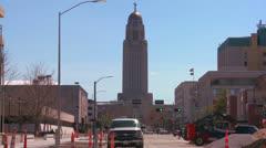 An establishing shot of Lincoln Nebraska. Stock Footage