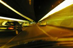 Stock Photo of Germany, Bavaria, Munich, cars in Altstadt tunnel