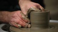 Stock Video Footage of pottery class workshop.