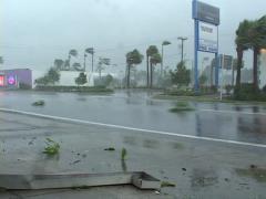 Hurricane Falling debris Stock Footage
