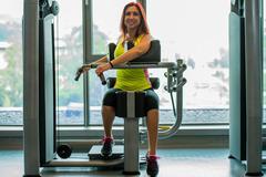 Women doing exercising for abs Stock Photos