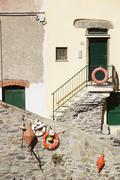 Italy, Liguria, Riomaggiore, House - stock photo