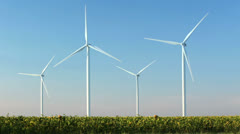blue sky and wind power - stock footage