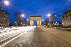France, Paris, Arc de Triomphe, Charles de Gaulle square Stock Photos