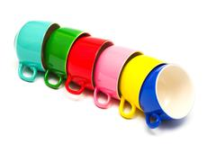 color cups - stock photo