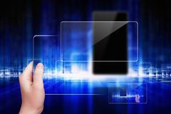 Techno background Stock Photos