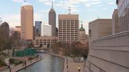 Stock Video Footage of Establishing shot of Indianapolis, Indiana.