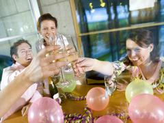 young professionals having company party - stock photo