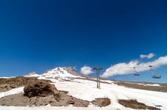 Mount Hood Chairlift - stock photo